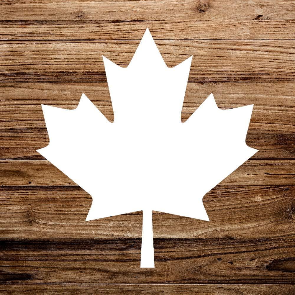 N/ A Maple Leaf Canadian Canada Pride Vinyl Sticker Graphic Bumper Tumbler Decal for Vehicles Car Truck Windows Laptop MacBook Phone Wall Door