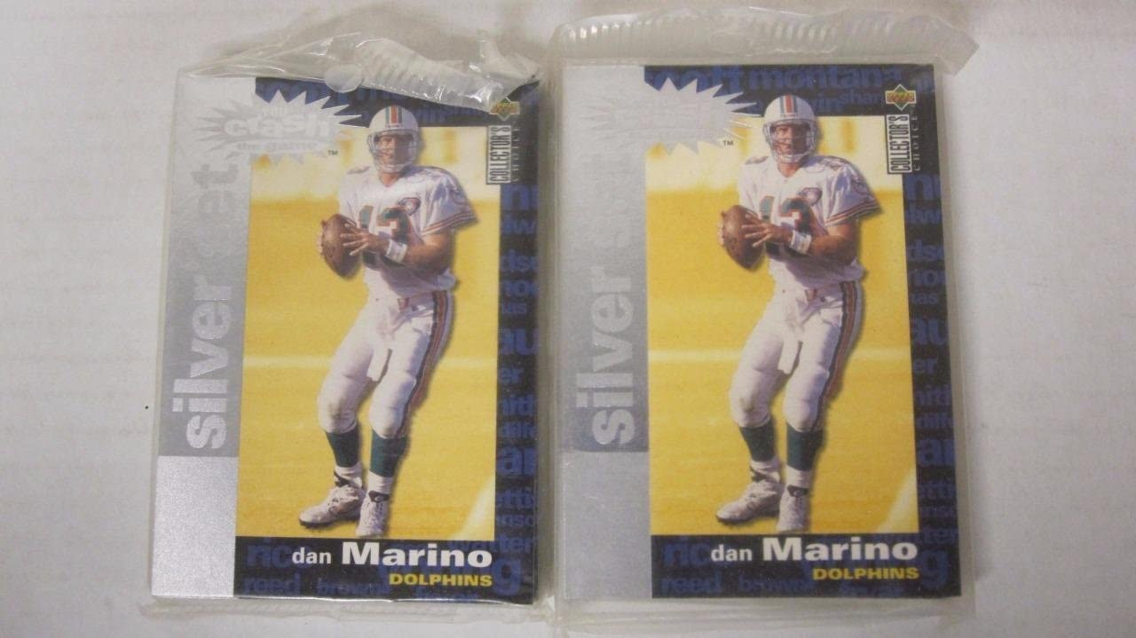 (2) 1995 COLLECTOR'S CHOICE CRASH THE GAME SILVER SETS MARINO EMMETT ELWAY FAVRE
