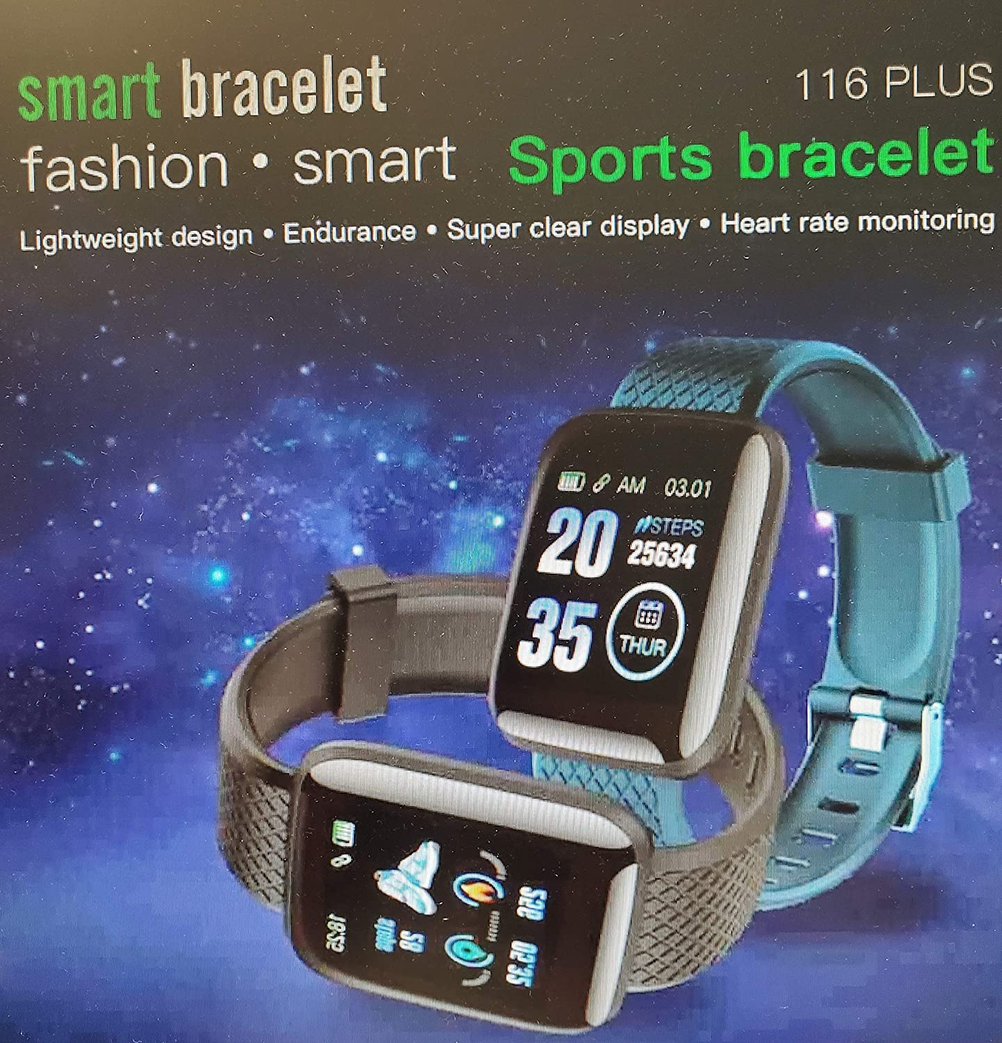 Fitness Trackers Smart Watch with 1.3 Touch Screen Activity Tracker IP67 Waterproof with Pedometer, Sleep Monitor, Calorie Counter, Heart Rate Monitor for Android/iOS (No Power Adapter)