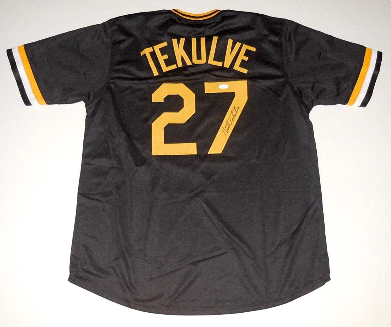 Autographed Kent Tekulve Jersey - Custom) - Coa! - JSA Certified - Autographed MLB Jerseys