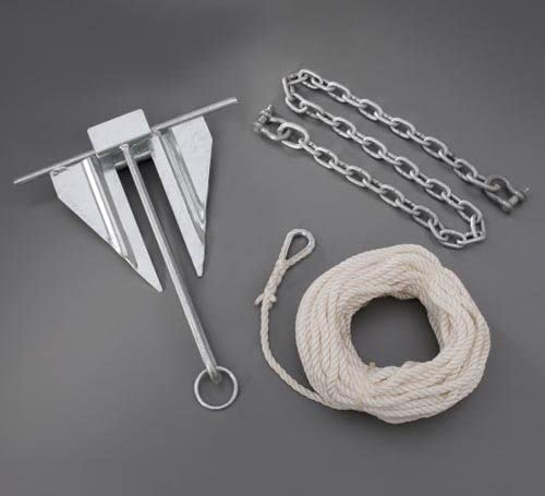 OEM Yamaha Marine Boat 10 lb Anchor Kit w/Chain and rope SBT-ANCHR-KT-08