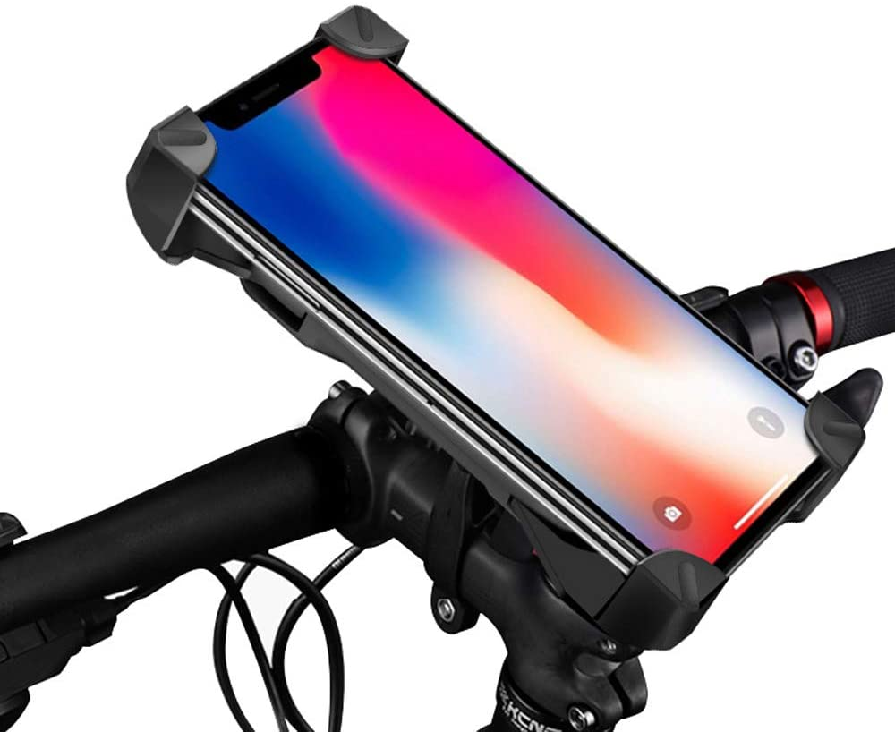RJKUL Bike Phone Mount,Bicycle Phone Holder with 360° Rotation,Universal Adjustable Joint Locking Knob,Bicycle Handlebar Accessories Holder for Phone 4 to 7 inches