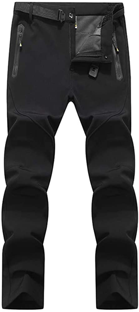 LABEYZON Men's Outdoor Athletic Softshell Fleece Lined Cargo Pants Snow Ski Hiking Pants