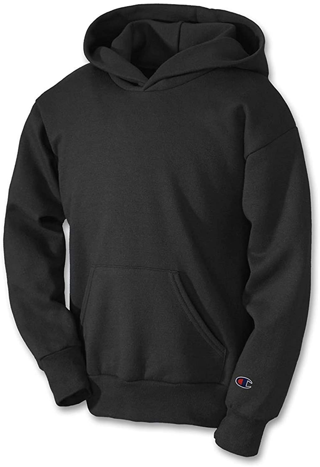 Champion Youth Double Dry Action Fleece Pullover Hood, Black, Size - S
