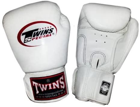 Twins Muay Thai Boxing Gloves White Gold Kanog 10 Oz.