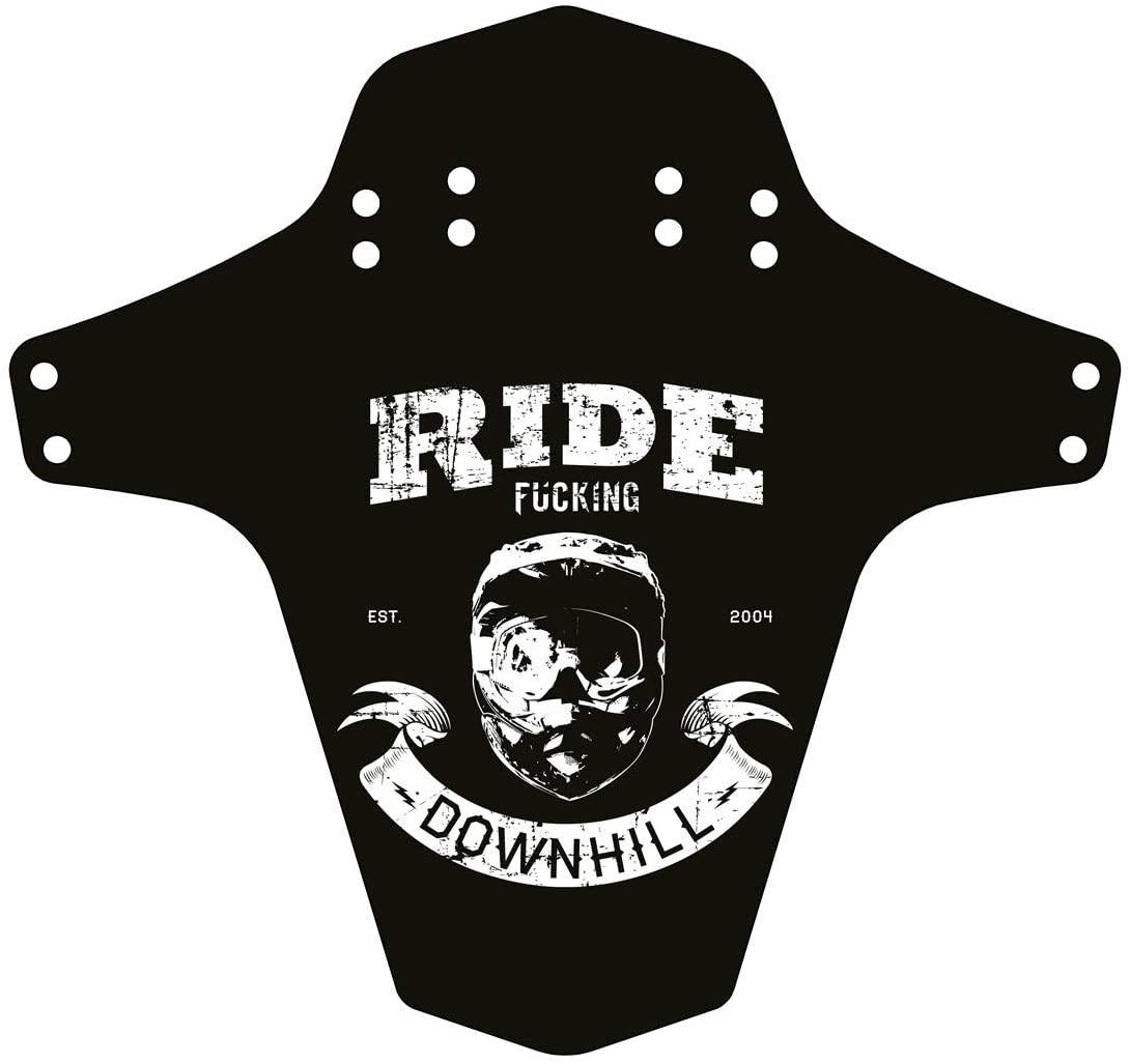 reverse Mudfender, Ride F-Ing Downhill, Black/White