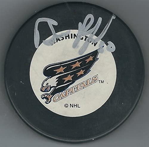 Autographed Bill Ranford Washington Capitals Hockey Puck