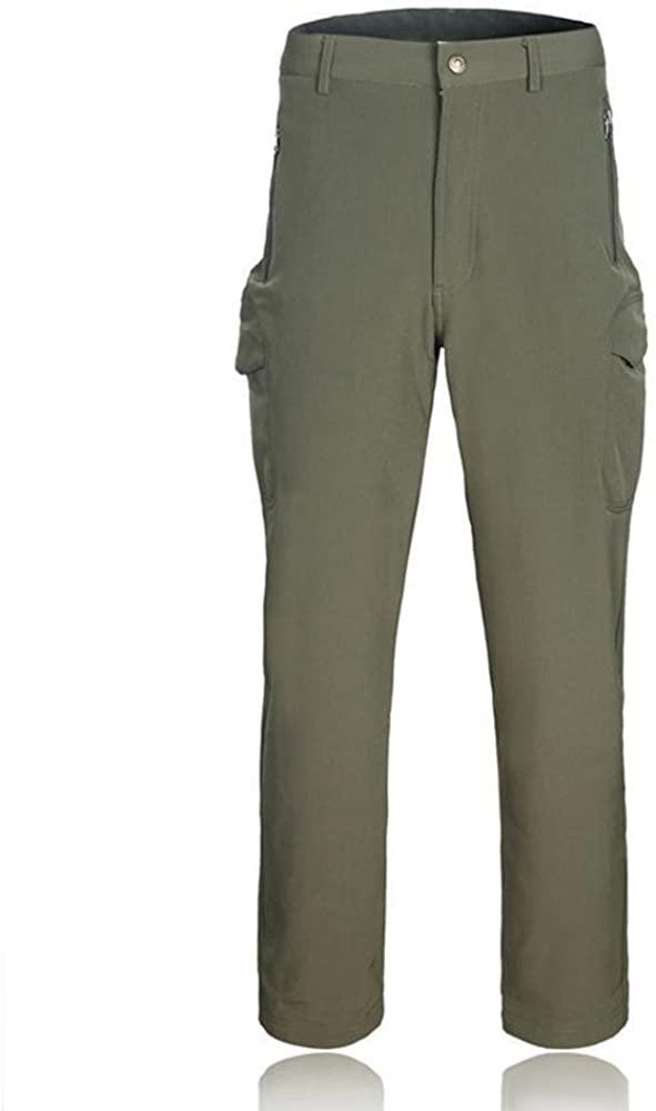 ELEPHANT DANCING Men's Outdoor Fleece Lined Tactical Sportswear Pants