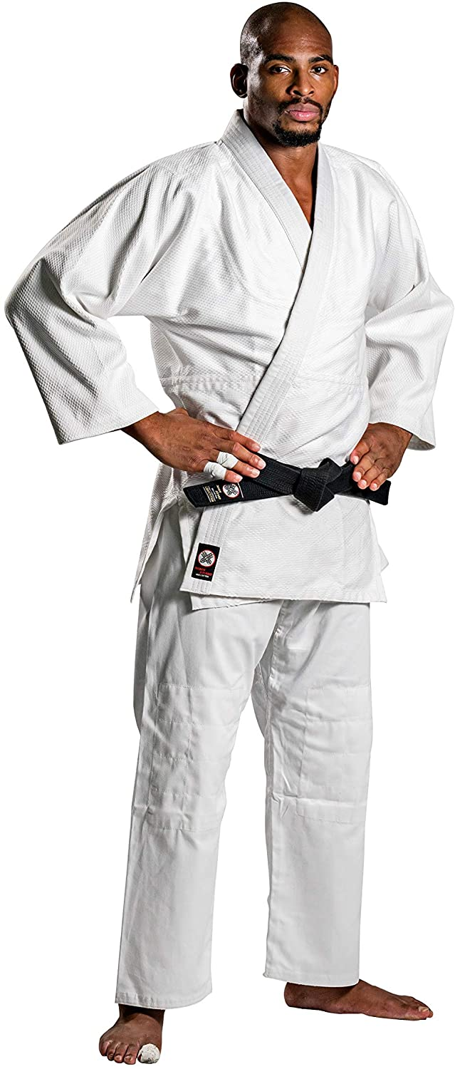 Ronin Judo Gi - Professional Made Martial Arts Uniform - Single Weave Bleach Kimono - Perfect for Competition or Training + White Belt