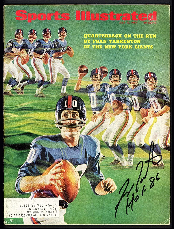 Fran Tarkenton Autographed Sports Illustrated Magazine New York GiantsHOF 86 Beckett BAS #S76692 - Beckett Authentication