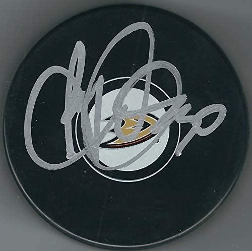 Autographed Ryan Miller Anaheim Ducks Hockey Puck