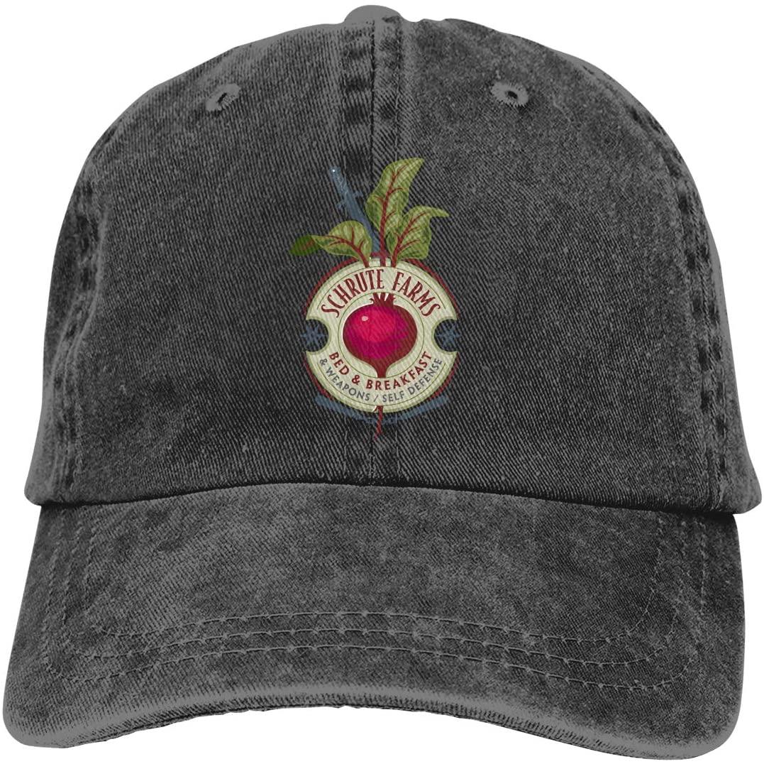 IASIFD Schrute Farms Logo Unisex Flex-fit Hat Hip Hop Baseball Cap Sun Hat Outdoor Cap Black
