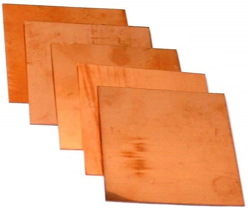 Copper Sheet Assorted Sample Pack of 5 (3
