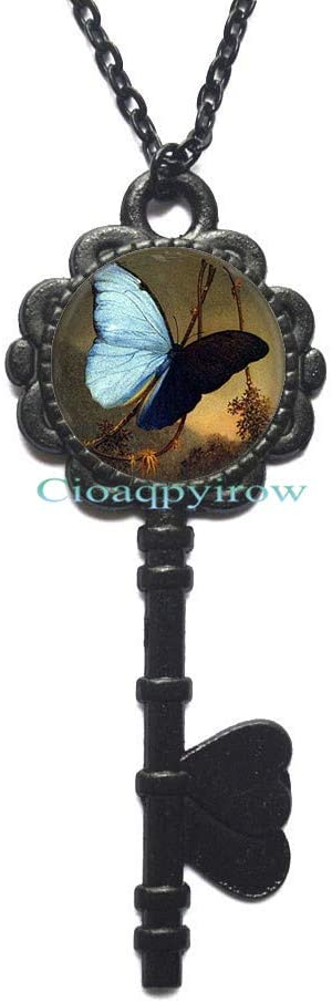 Cioaqpyirow Butterfly Jewelry,Butterfly Gift for Butterfly Lovers Gift,Butterfly Pendant,Delicate Jewelry,HO0E77