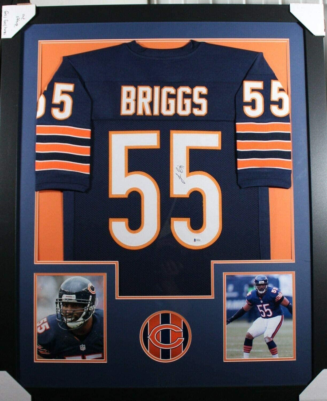 Signed Lance Briggs Jersey - Framed w COA 1 - JSA Certified - Autographed NFL Jerseys