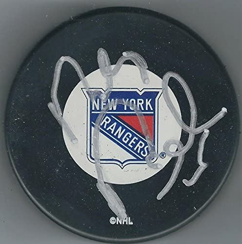 Autographed PETER PRUCHA New york Rangers Hockey Puck - Autographed NHL Pucks