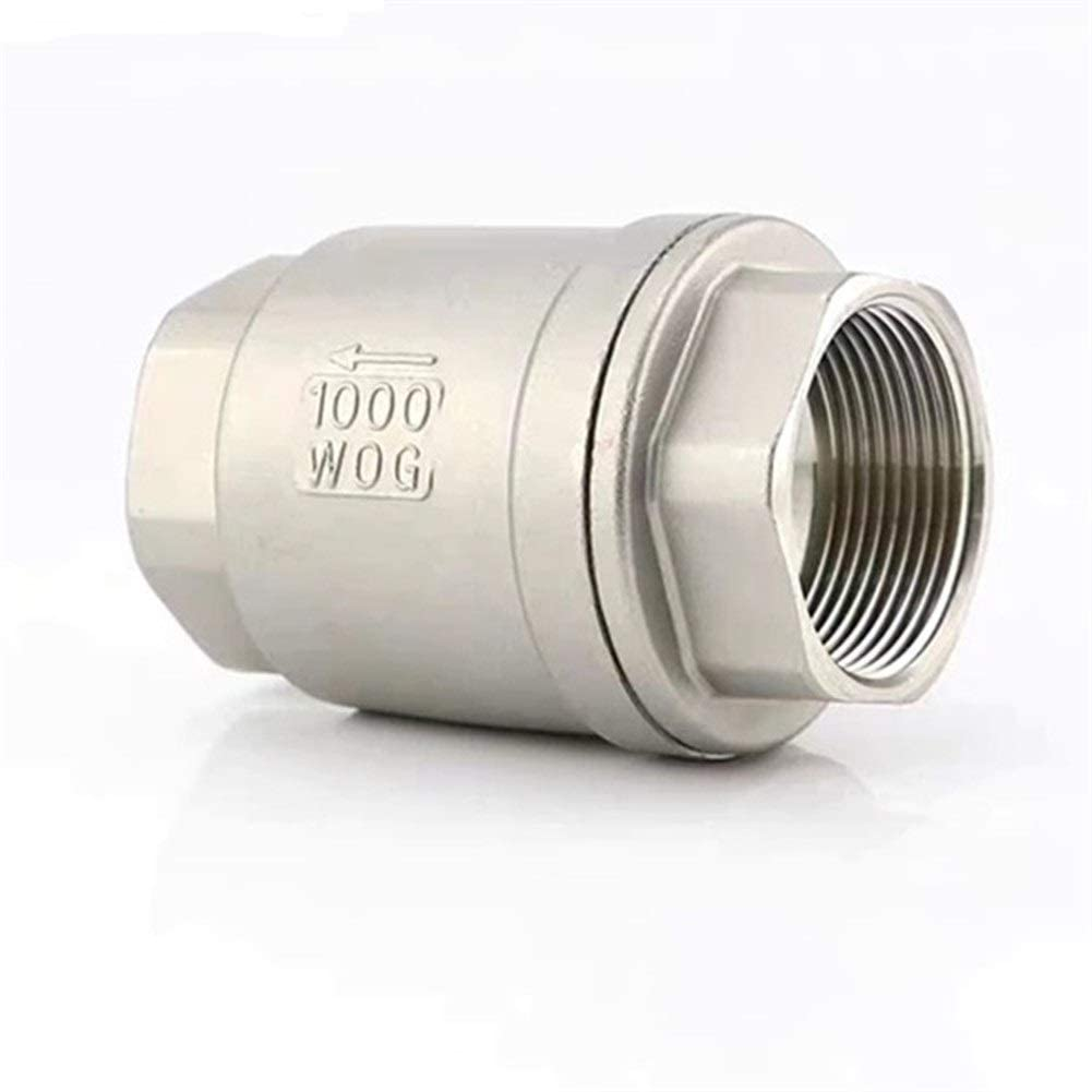 BAIJIAXIUSHANG-TIES Valves, Fittings 1/4 3/8 1/2 3/1 1 1-1/4 1-1/2 Stainless Steel SS304 Vertical Lift in Line Spring Check Valve DN8 DN15 DN20 DN25 DN32 DN40 1pc (Specification : 1