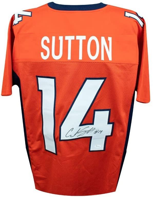 Courtland Sutton Autographed Denver Broncos Custom Orange Football Jersey - JSA