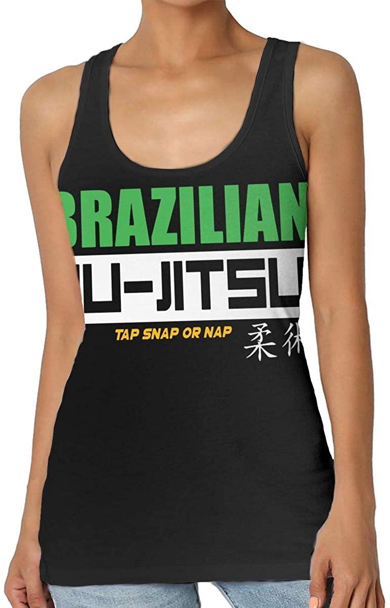 Yongchuang Feng Brazilian Jiu Jitsu Womens Tank Top T-Shirt Fashion Sleeveless Vest