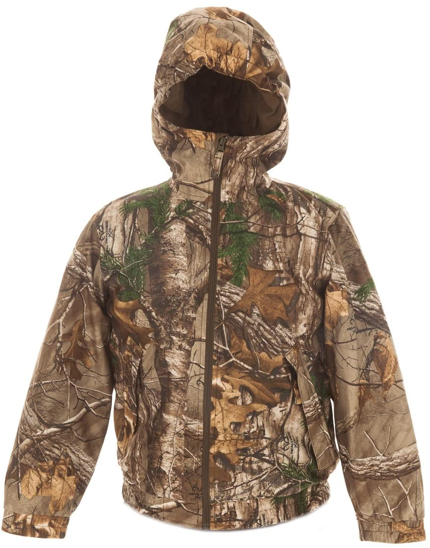 AOO Youth Insulated Water Resistant Hunting Jacket Realtree Xtra Camo