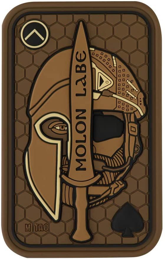 M-Tac Morale Patch Molon Labe Spartan PVC Tactical Hook Fasteners