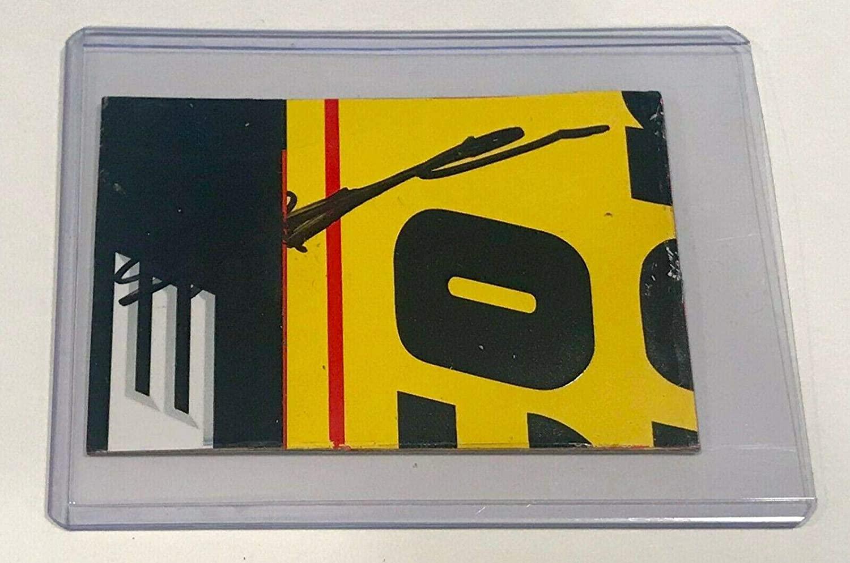 Jeff Gordon AARP Dupont AXALTA Signed Nascar Race Used 2x3 Sheetmetal Piece #4 - NASCAR Autographed Race Used Items