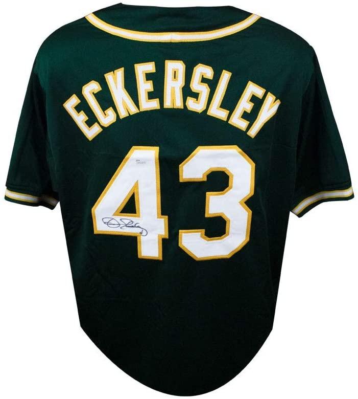 Dennis Eckersley Autographed Oakland Athletics Custom Green Baseball Jersey - JSA COA (B)