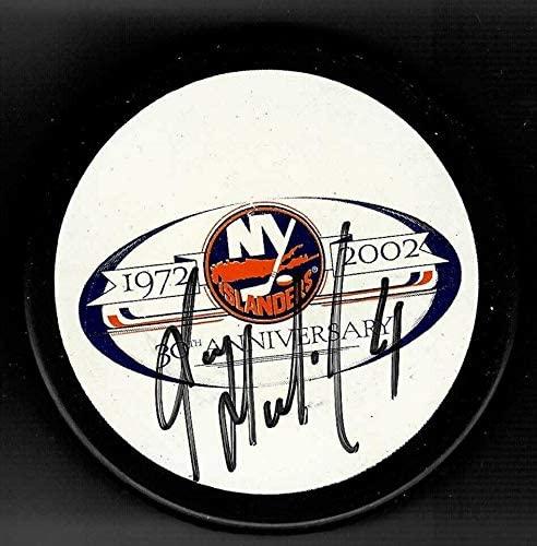 Roman Hamrlik Autographed Puck - 30th Anniversary - Autographed NHL Pucks