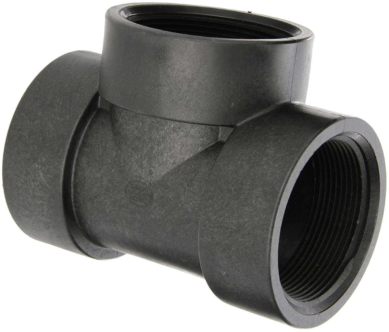 Banjo TEE300 Polypropylene Pipe Fitting, Tee, Schedule 80, 3 NPT Female