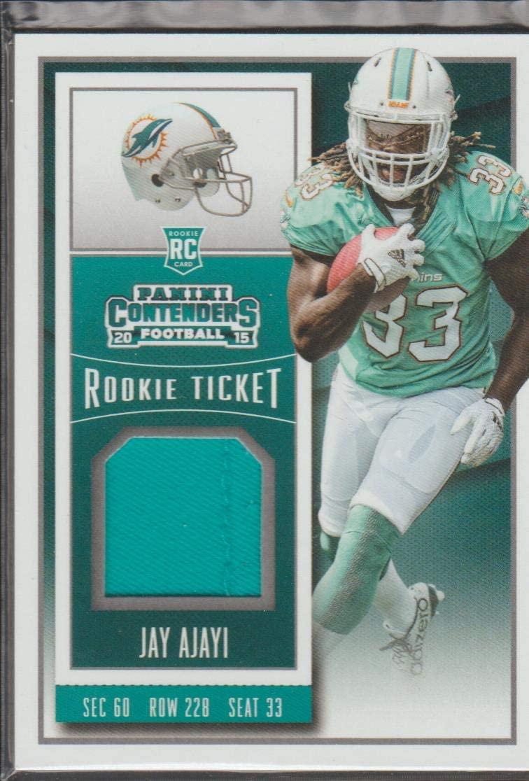 2015 Contenders Jay Ajayi Dolphins Rookie Jersey Football Card #RTS-JA