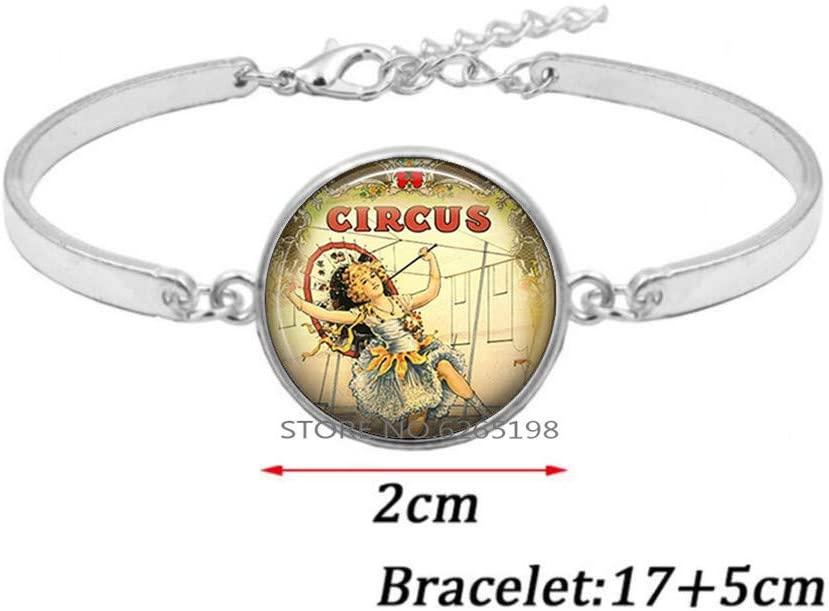 Circus Bracelet, Circus Jewelry Circus Jewellery Circus Bangle,Art Glass Dome Bangle,Circus Dainty Bracelet,N348