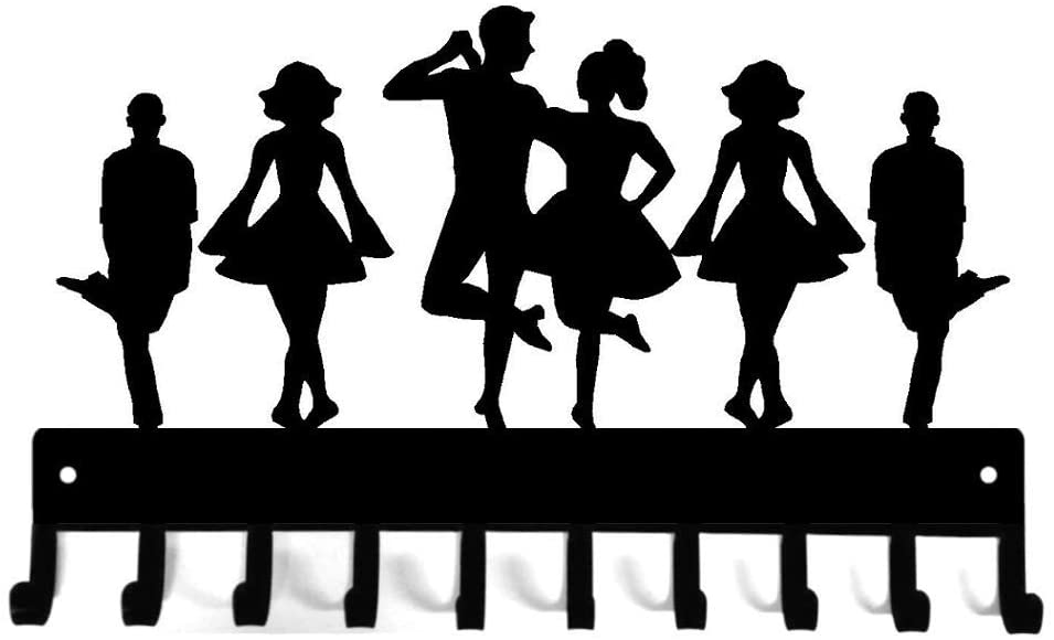 Irish Dance Troupe with Couple - Medal Hanger Rack & Ribbon Display - Made in The USA