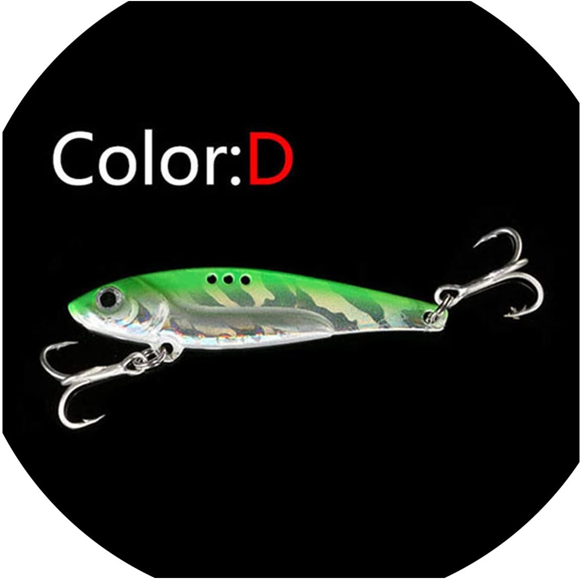 OH WHY Metal Laser VIB Fishing Lure 5g8g13g16g21g Fishing Tackle Crankbait Vibration Spoon Spinner Sinking Bait Tackle,D,5cm-8g