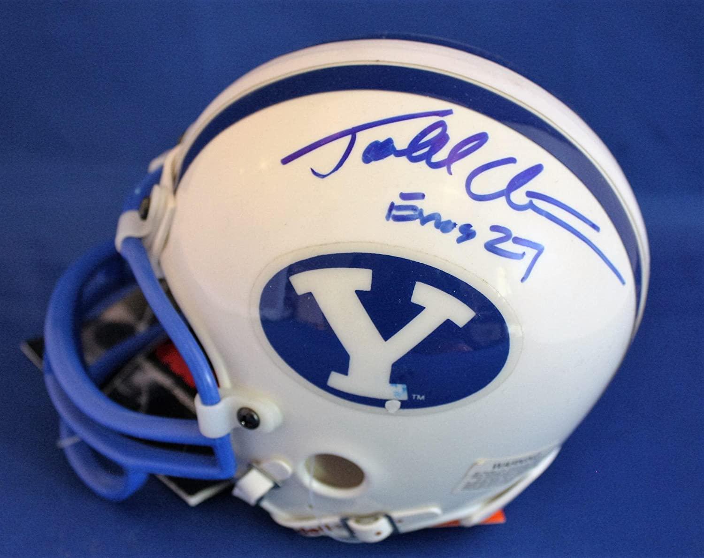 Todd Christensen Autographed Mini Helmet - Bringham Young University w COA - Autographed NFL Mini Helmets
