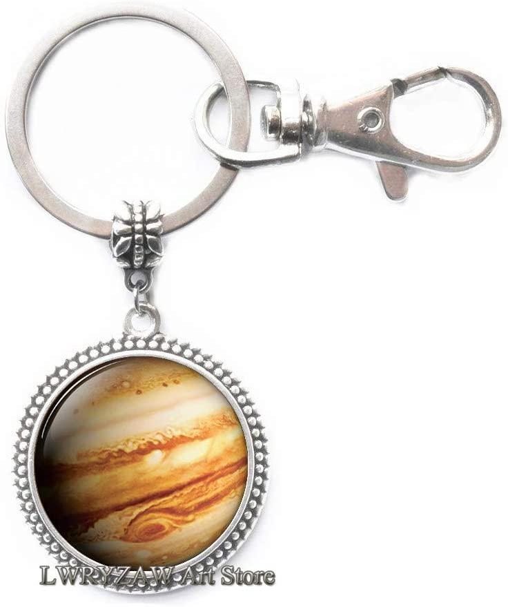 Jupiter Keychain, Jupiter Key Ring, Jupiter Jewelry, Jupiter Charm, Space Keychain, Space Key Ring, Space Jewelry, Space Charm,M274