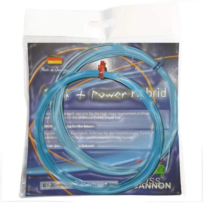Weiss CANNON Blue Rock'n Power Tennis String - 1.20mm - Neon Blue - 12m