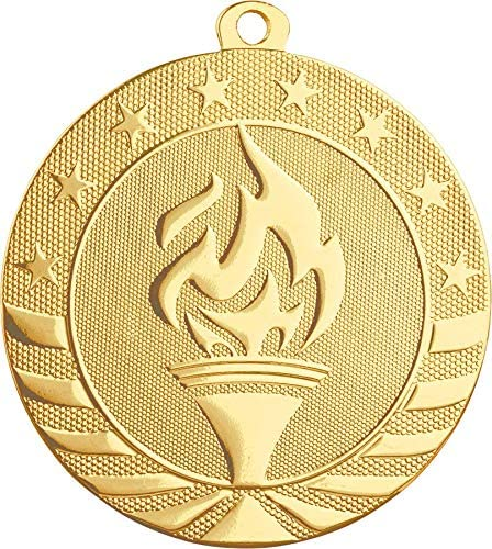 Trophy Crunch Custom Build Your Own Football Medal Medal and Ribbon - Gleam Series