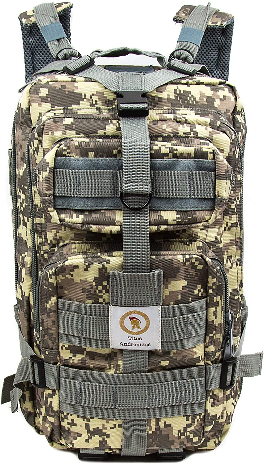 Titus Andronicus Military Tactical Backpack - Molle Bug Out Bag - Army Assault Pack for Outdoor and Daily Use
