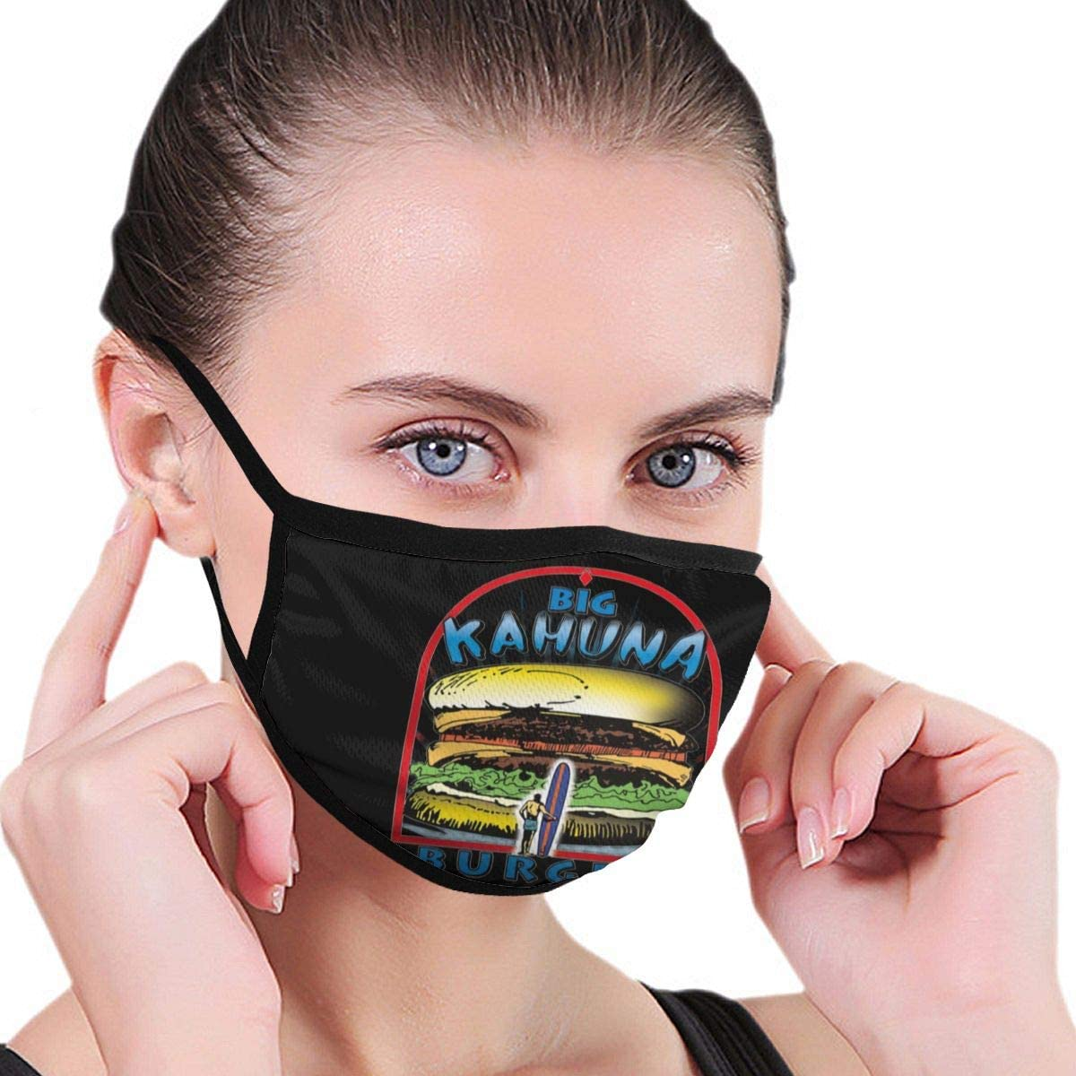 Wehoiweh Big Kahuna Burger Dust Prevention Face Cover Mouth Cover Bandana Cool Lightweight