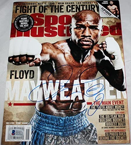 Floyd Mayweather Signed Sports Illustrated Magazine Cover- Beckett Auth - Autographed Boxing Magazines