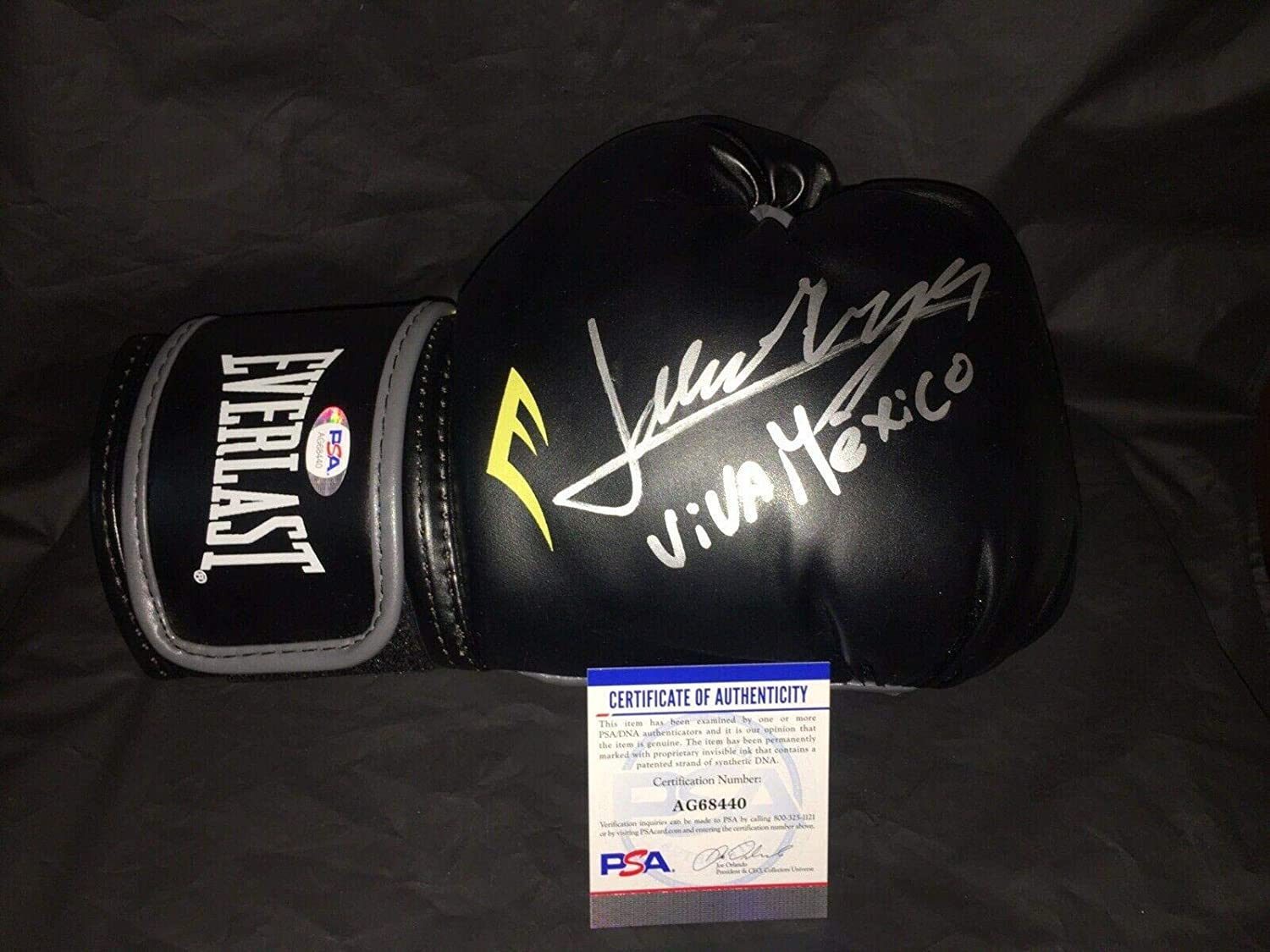 Jaime Munguia Signed Everlast Boxing Glove Viva Mexico Champ - PSA/DNA Certified - Autographed Boxing Gloves