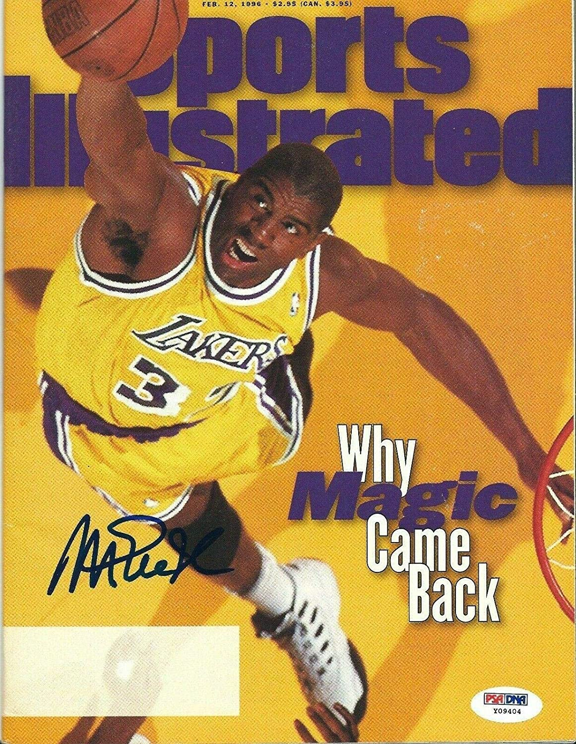 Magic Johnson Signed Sports Illustrated Magazine *Lakers Showtime *HOF - PSA/DNA Certified - Autographed NBA Magazines