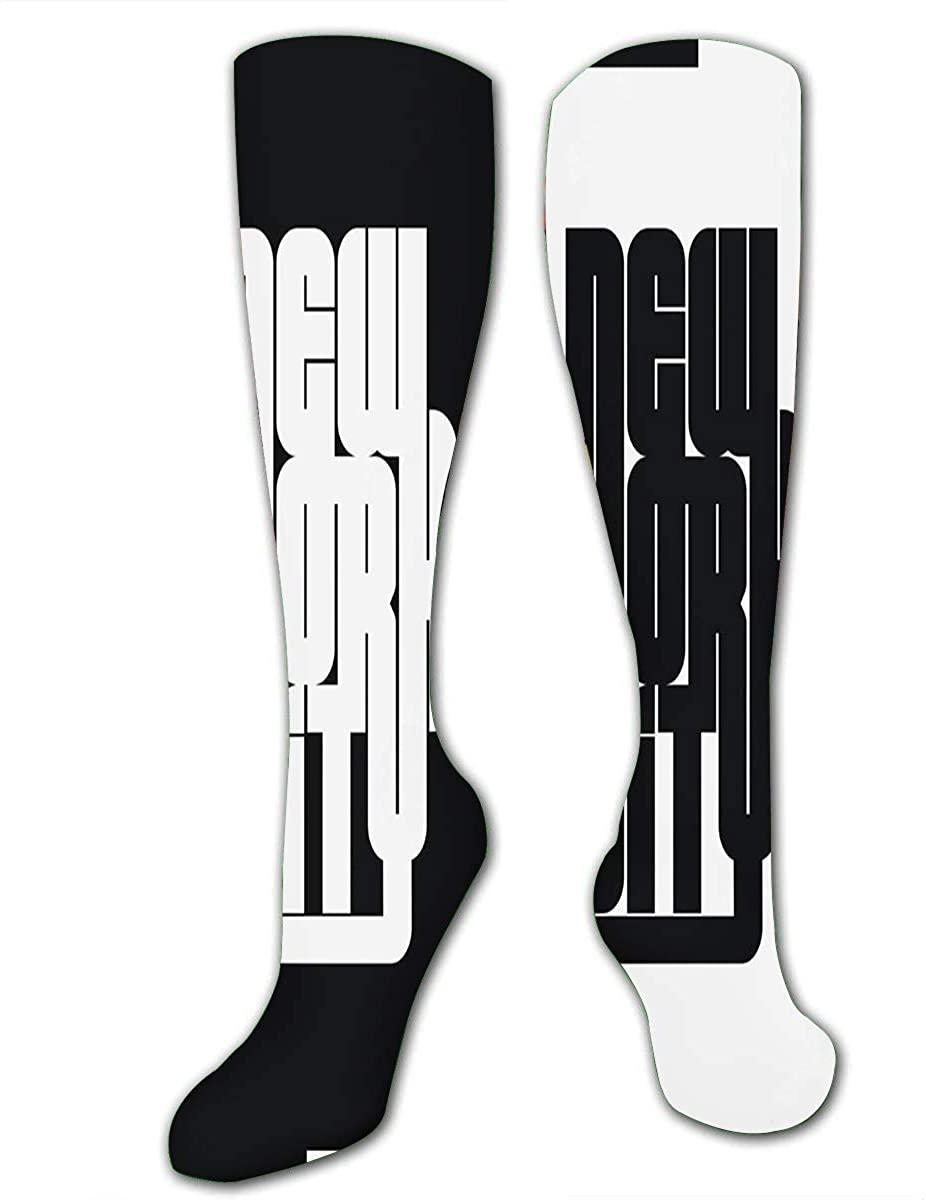 Compression Socks For Men Women New York City Emblem Stamp Casual Sock