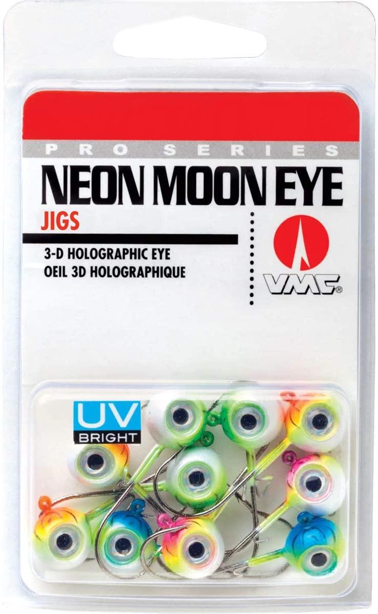 VMC Neon Moon Eye Jig UV Kit 1/8 Assorted