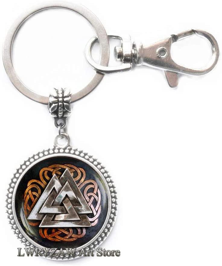 Odins Knot Key Ring,Valknut Keychain,Norse Runes Keychain, Magic Symbol, Rune nordique, Men's Keychain,Simple Keychain,Handmade Keychain,M24