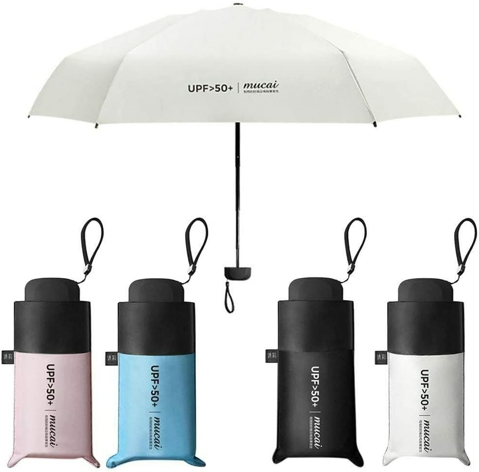 JIEJIEZ Mini Compact Indproof Wind Resistant Travel Umbrella Umbrella Uv Protection Folding Umbrella