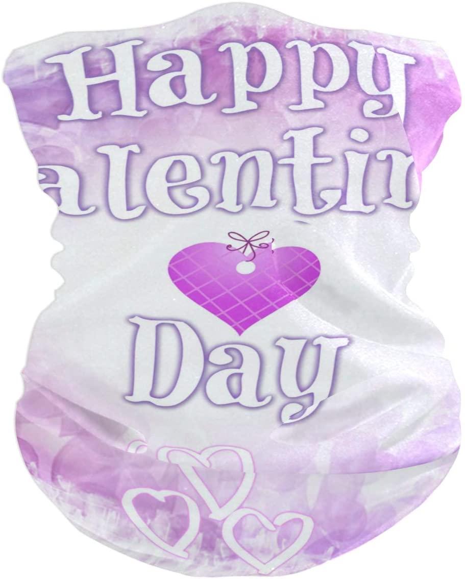 Valentine's Day Background Face Mask UV Sun Mask Dust Wind Neck Gaiter Magic Bandana