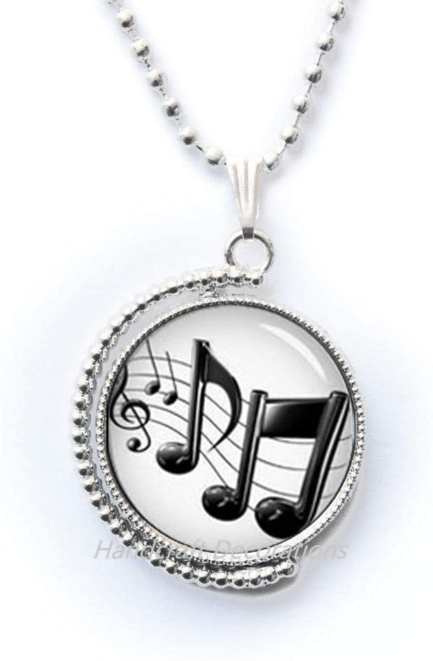 HandcraftDecorations Music Note Necklace,Clef Note Sheet Music Lovers Pendant,Gift for Her,Simple Necklace,Music Necklace-Music Note Jewelry.F219