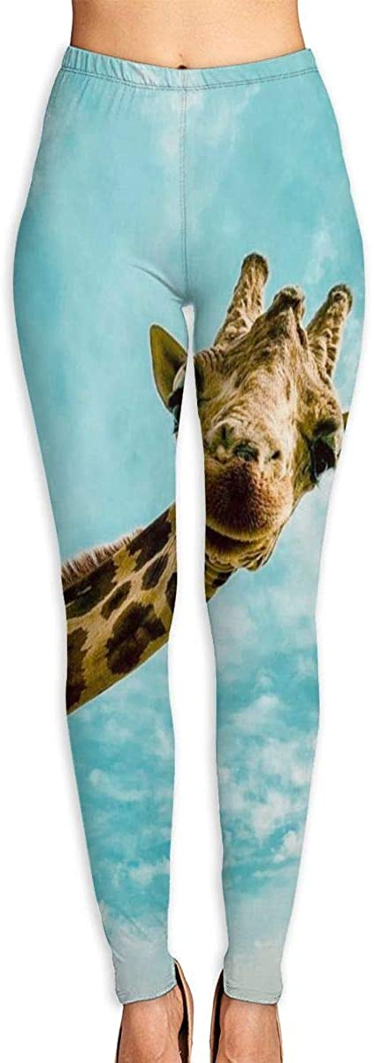 AUISS Lady Yoga Pants Leggings Popular Giraffe Running Workout Over The Heel Long Trousers Athletic Gym