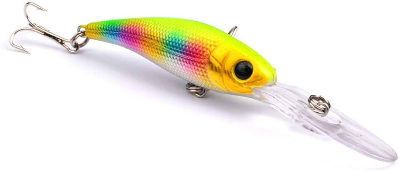 OH WHY 1Pcs Long Tongue Minnow Fishing Lure 10cm 9.5g Hard Bait Floating Crankbait Pesca Topwater Wobblers Fish Fishing Tackle